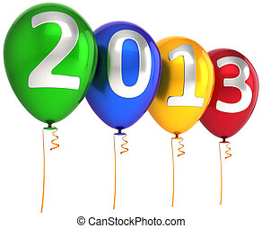 New 2013 Year party helium balloons - New 2013 Year party...