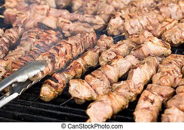 kebabs, griglia