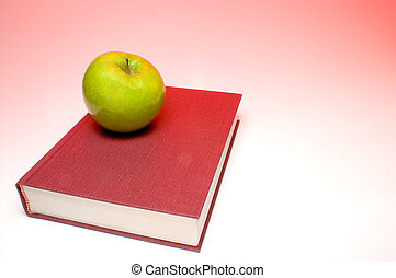 Back to School Concept- An apple on a book