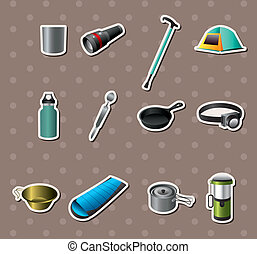 Camping tools stickers