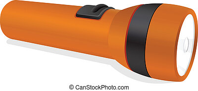 an orange torch - illustration of an orange torch on a white...