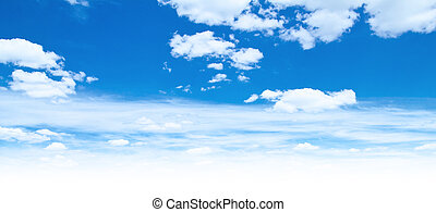 Blue sky and clouds. Summer day background