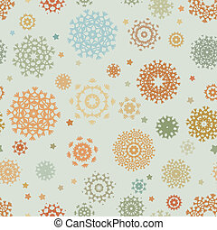 Holidays seamless pattern with snowflakes. EPS 8