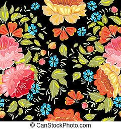 background seamless style Khokhloma