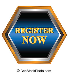 Register now logo on a white background