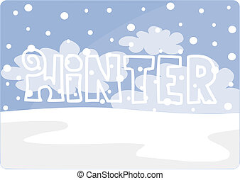 Winter text simple but beauty card.