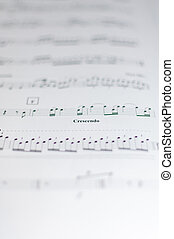 White paper printed with classical music