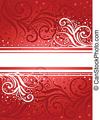 Abstract red-white background