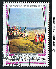 Napoleon - AJMAN - CIRCA 1976: stamp printed by Ajman, shows...