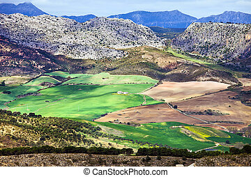 Andalucia Landscape in Spain - Andalucia countryside scenic...