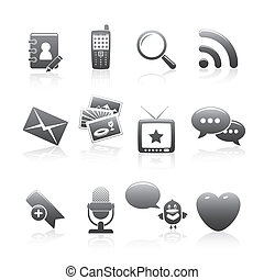 Social Media Icons Silhouette Series For Your Web Site Or...