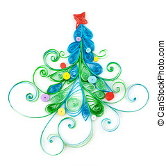 Christmas tree - Quilling. Christmas tree made ??of paper...
