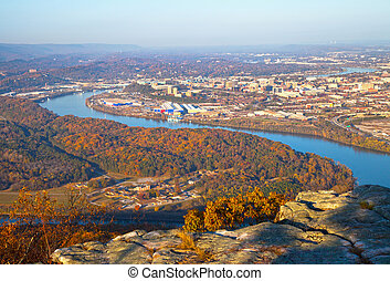 Chattanooga - View of Chattanooga, Tennessee from Lookout...