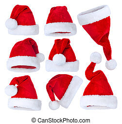 Santas Hat set over white