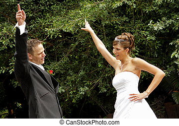 Dancing - A couple dancing on their wedding day