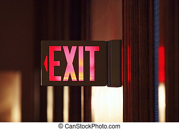 Exit Sign - Exit sign in an historic building.