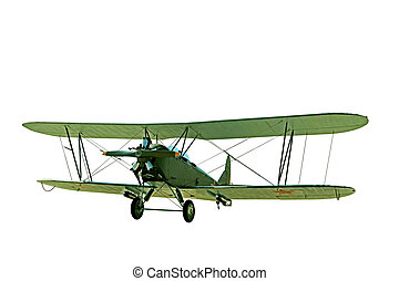 Old plane - Soviet aircraft named Polikarpov Po-2 isolated...