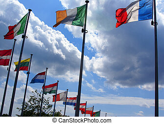 Flags of Europaen Union countries - Flags of all countries...