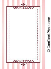 Vector vintage pink striped frame
