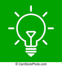 bulb on green background - Vector illustration of bulb on...
