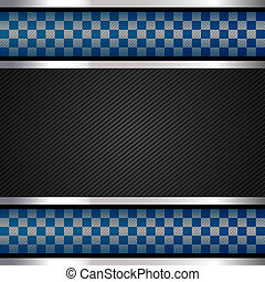 Police backdrop, striped surface