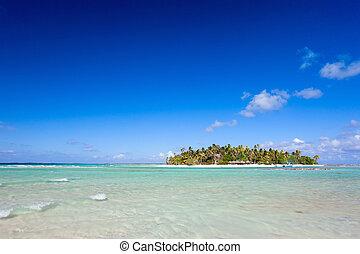 Tropical island - Idyllic tropical island in French...