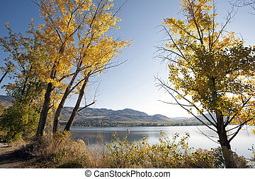 Osoyoos Lake in the fall colours