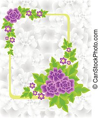 Frame with abstract flowers