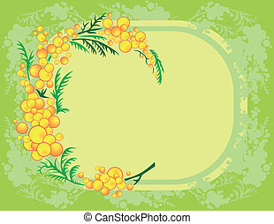 Abstract mimosa branch - Illustration of abstract mimosa...
