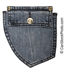 jeans pocket - blue jeans pocket isolated on white...