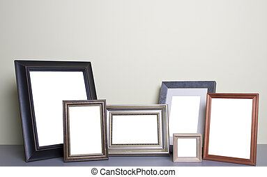 photo frames on the table - blank photo frames on the table...