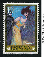Pablo Ruiz Picasso - SPAIN - CIRCA 1978: stamp printed by...