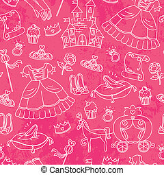 princess pattern - seamless pattern with things related to...