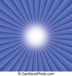 abstract rays background of blue star burst