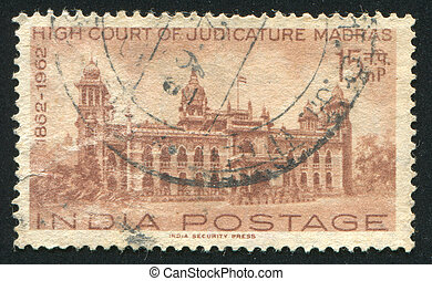 Madras - INDIA - CIRCA 1962: stamp printed by India, shows...