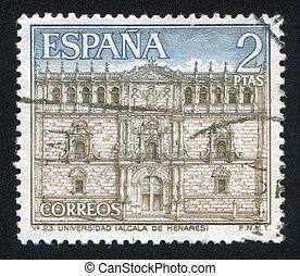 Precinct of Alcala de Henares - SPAIN - CIRCA 2001: stamp...