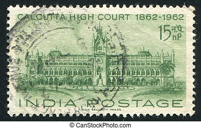 Calcutta - INDIA - CIRCA 1962: stamp printed by India, shows...