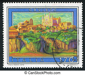 Orvieto - ITALY - CIRCA 1979: stamp printed by Italy, shows...