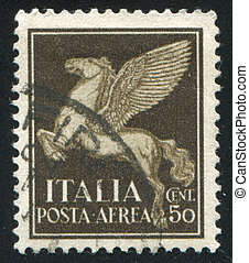 Pegasus - ITALY - CIRCA 1930: stamp printed by Italy, shows...
