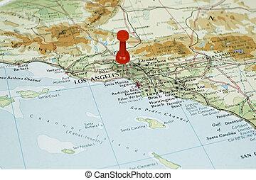 アンジェルという名前の人たち, 地図, 位置, ピン,  Los