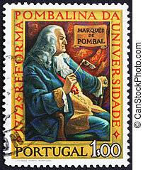 Postage stamp Portugal 1972 Marquis of Pombal - PORTUGAL -...