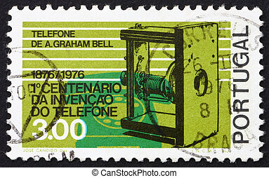 Postage stamp Portugal 1976 Telephones 1876 and 1976