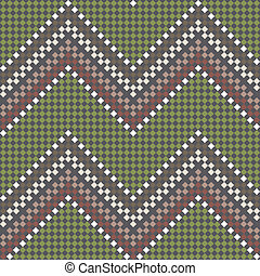 Seamless vector embroidered pattern