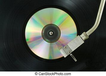 long play cd - old pick-up reading cd