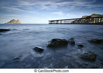 old mineral loading bay in ?guilas, Murcia, Spain