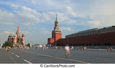 Red square timelapse