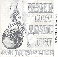 football lost a game - illustration for shirt printed and...