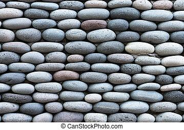 Peddle stone wall background