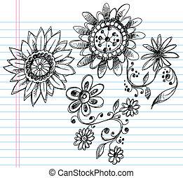 Sketchy Doodle Henna Elegant Flower