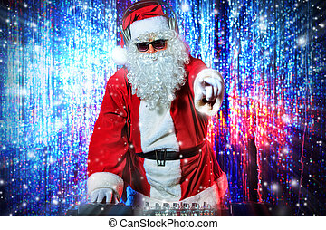 dj santa - DJ Santa Claus mixing up some Christmas cheer...